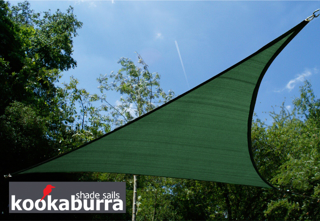 Tende a vela Kookaburra® per feste- Triangolare 3,6 m Verde Traspirante Intrecciata (185g) € 54,99