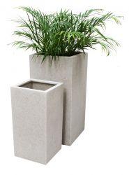 Fioriere e vasi da giardino in vetoresina, resina, terrazzo