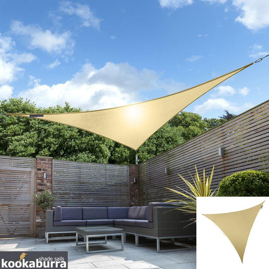 Vela Triangolare Da Giardino tenda a vela kookaburra® per feste resistente all'acqua - triangolare 5 mt  - sabbia