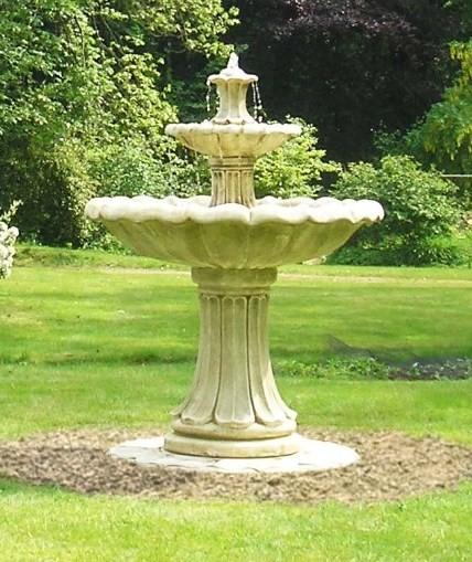 Fontana classica effetto pietra due livelli alta 1 for Idee seminterrato a due livelli