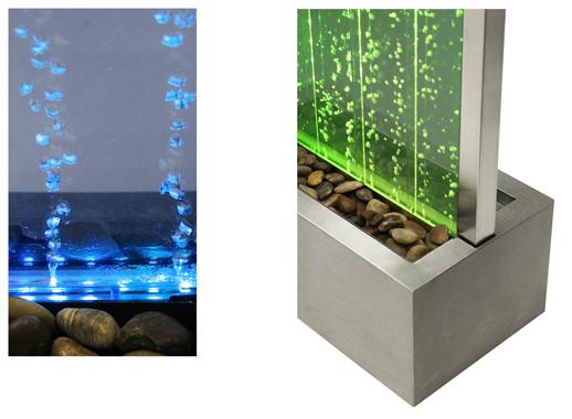Fontana a parete d 39 acqua con le bollicine e luci led 1 for Parete acqua